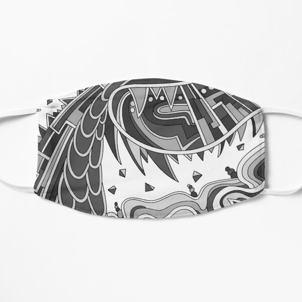 Wandering Abstract Line Art 49: Grayscale Flat Mask