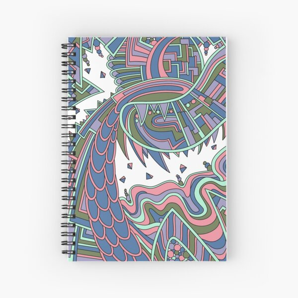 Wandering Abstract Line Art 49: Coral Spiral Notebook