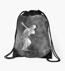 Grunge Baseball Art Drawstring Bag