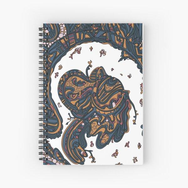 Wandering Abstract Line Art 50: Yellow Spiral Notebook