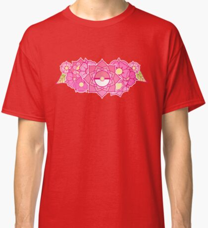 Pokeball Flowers Classic T-Shirt