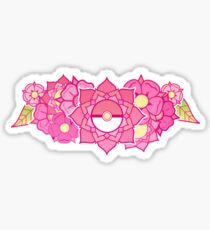 Pokeball Flowers Sticker