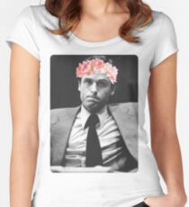 Flower crown Ted Bundy Women's Fitted Scoop T-Shirt