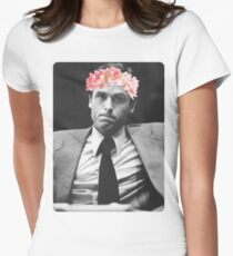 Flower crown Ted Bundy Womens Fitted T-Shirt