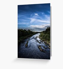 Blue Sky Blue Water Greeting Card
