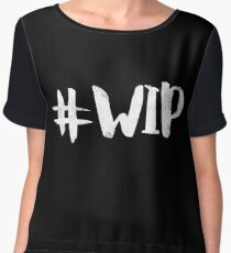 #WIP (white on black) Chiffon Top