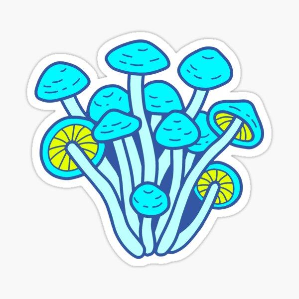 Blue Mushroom Sticker