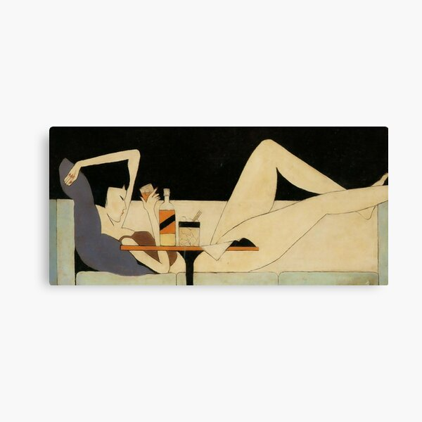 The Girl on The Couch by Pang Xunqin Canvas Print