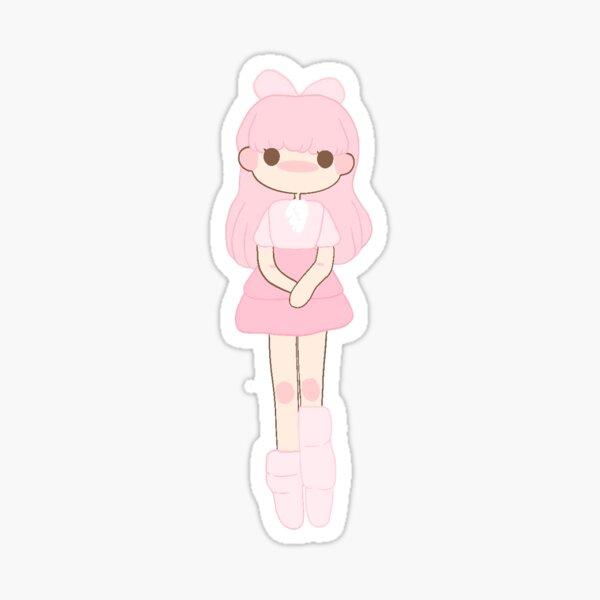 pastel pink girl Sticker