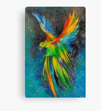 Parrot in flight Canvas Print