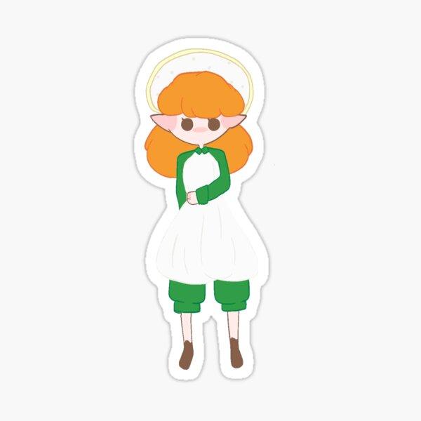 elf girl with mushroom hat Sticker