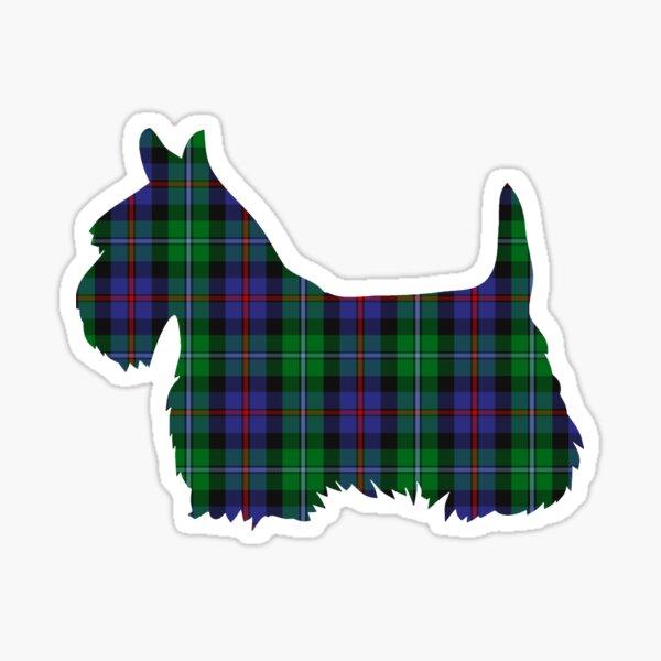 Campbell of Cawdor Tartan Scottie Dog Sticker