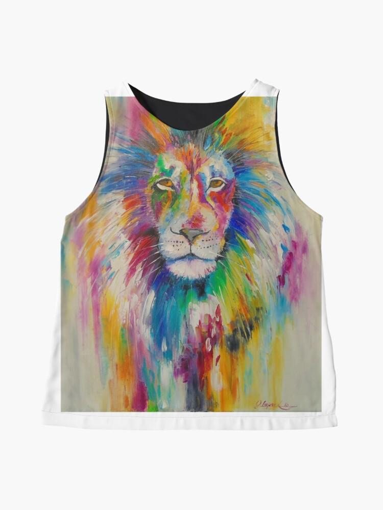 Alternative Ansicht von Rainbow lion Ärmelloses Top