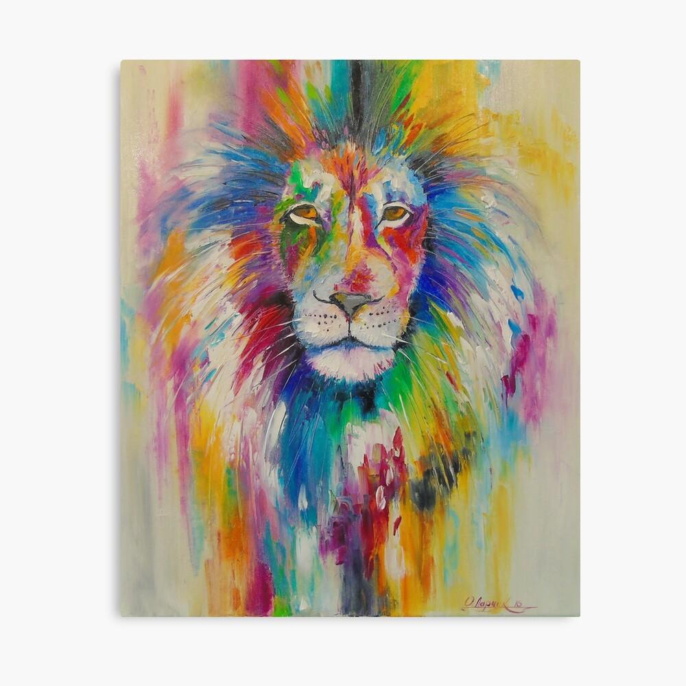 Rainbow lion Leinwanddruck