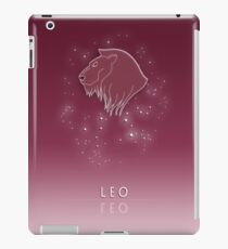 Leo Zodiac constellation - Starry sky iPad Case/Skin