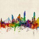 Bangkok Thailand Skyline by Michael Tompsett