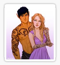 Feyre and Rhysand Tattoos Sticker