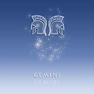 Gemini Zodiac constellation - Starry sky by chartofthemomen