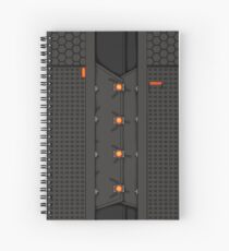 Rhys Graphic Tee, Variant C Spiral Notebook