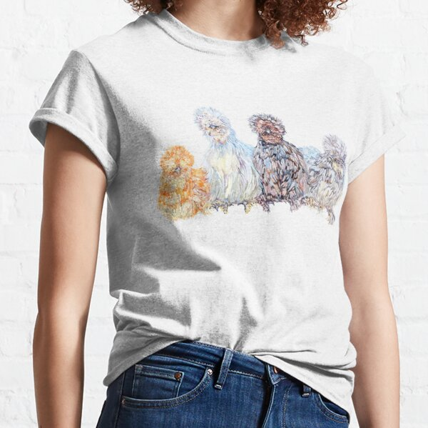 Silkie Chicken Huddle Classic T-Shirt