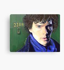 Benedict Cumberbatch as Sherlock Design 2 Canvas Print