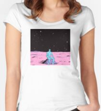 Dr. Manhattan on Mars Women's Fitted Scoop T-Shirt