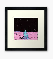 Dr. Manhattan on Mars Framed Print