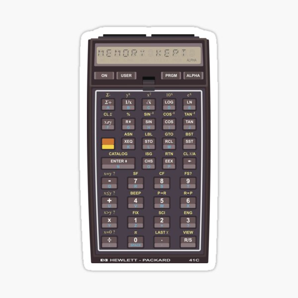 Iconic HP-41C Calculator (Memory is not lost) Sticker