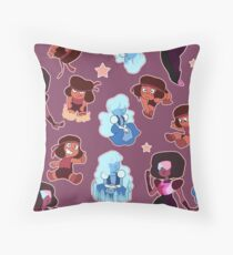 Garnet (Ruby and Sapphire) Spread Throw Pillow