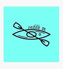 Kayak - Paddle On Photographic Print