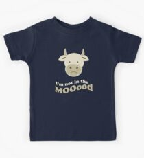 Funny Cow I'm Not In The Mood T Shirt Kids Tee