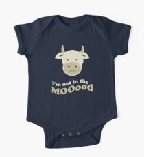 Funny Cow I'm Not In The Mood T Shirt Kids Clothes