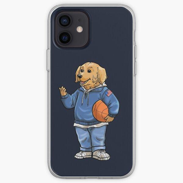 Golden Retriever Basketball - Adograble  iPhone Soft Case