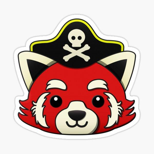 Red Panda Pirate Sticker