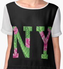 New York Rose Chiffon Top