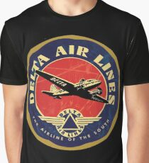 Delta Airlines Vintage USA Graphic T-Shirt