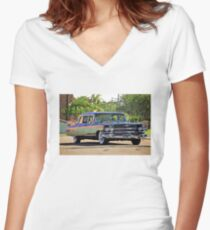 '59 Cadillac Fleetwood Limo Women's Fitted V-Neck T-Shirt