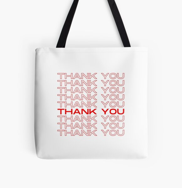 Thank You Thank Your All Over Print Tote Bag
