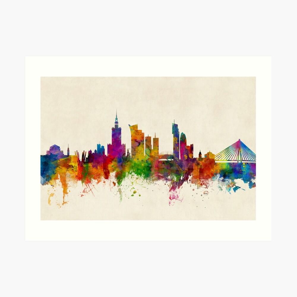 Warschau Polen Skyline Kunstdruck