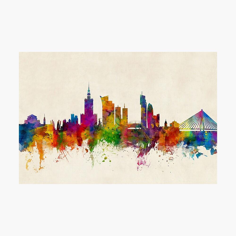 Warschau Polen Skyline Fotodruck
