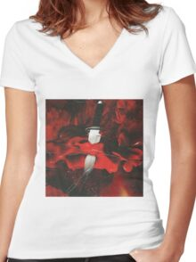 21 Savage x Metro Boomin - Savage Mode Women's Fitted V-Neck T-Shirt