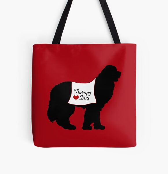 Therapy Dog All Over Print Tote Bag