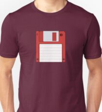 "3.5"" HD Floppy Disc (Red)  Unisex T-Shirt"