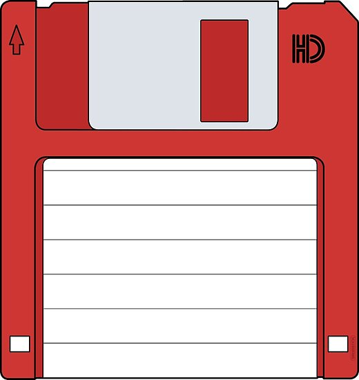"""3.5"""" HD Floppy Disc (Red)  by thedrumstick"""