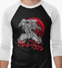 Camiseta ¾ bicolor para hombre Gurren-Lagann