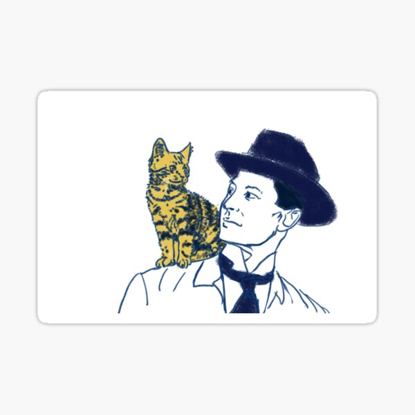 Shoulder Cat Sticker
