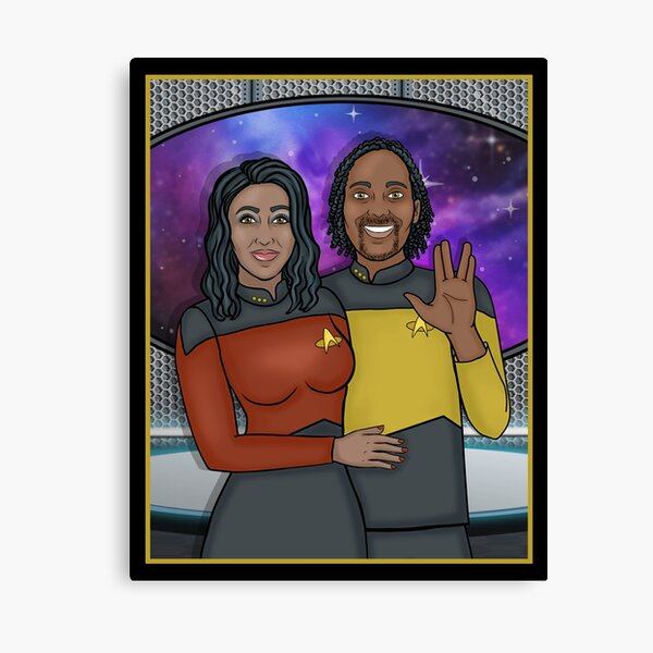 SPACE COUPLE for Jalessa C Canvas Print