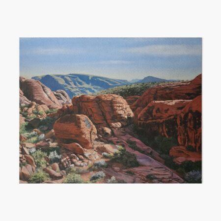 Red Rock in Summer Art Board Print