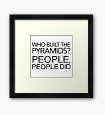 Funny Ironic Conspiracy Theory Nonsense  Framed Print
