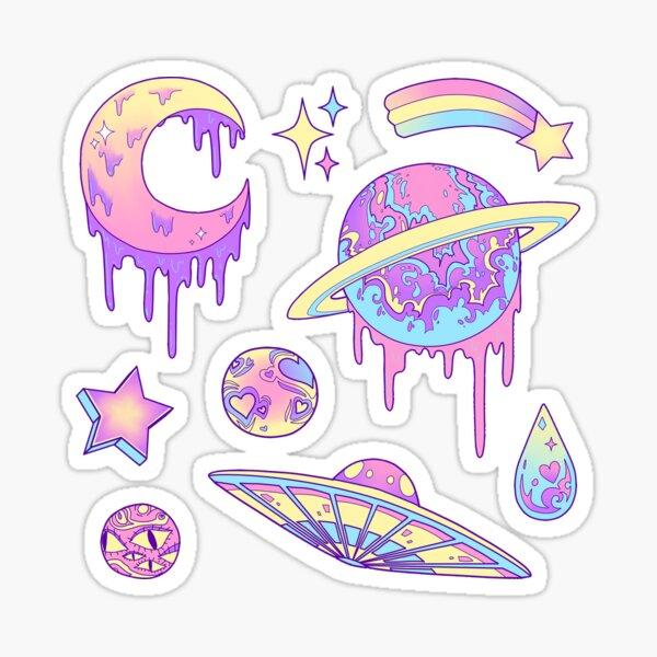 Pastel Galaxy Pegatina